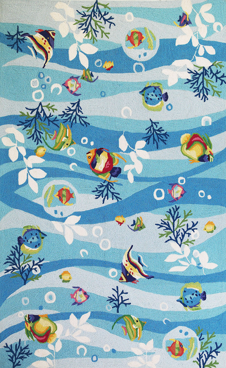 Lovely Sonesta 2011 Blue Tropical Fish Rug By Kas