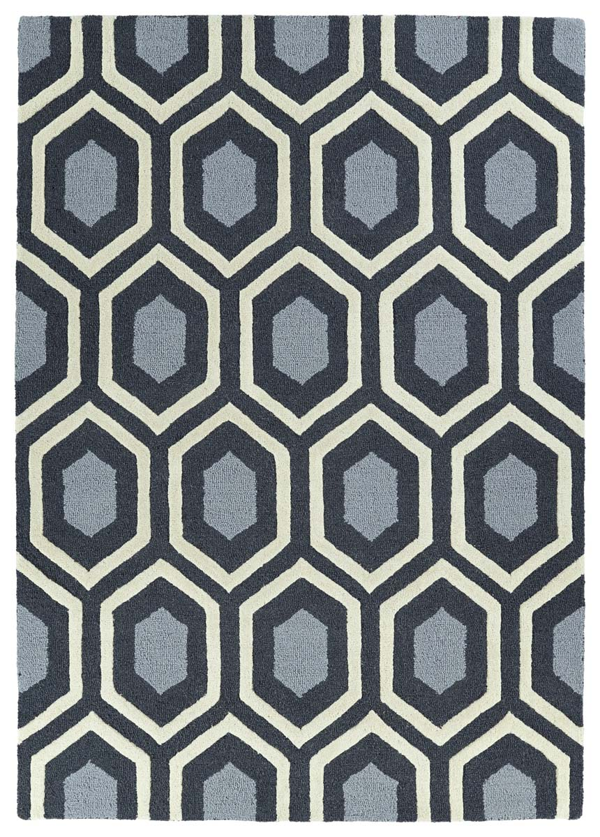 Kaleen Spaces SPA03-38 Charcoal Rug