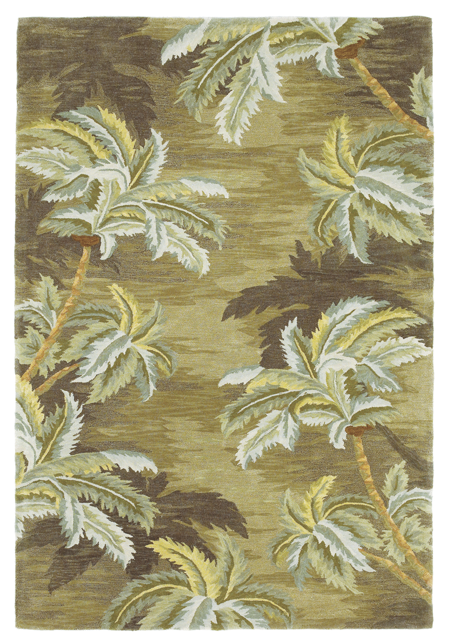 Sparta Palm Trees 3102 Moss Rug By Kas
