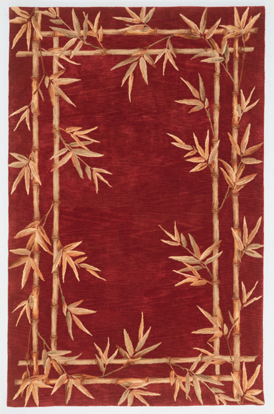 Sparta Bamboo Border 3145 Red Rug by Kas