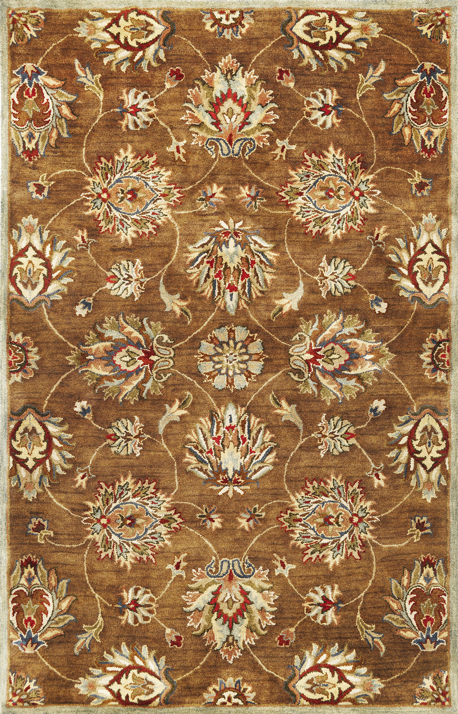 Syriana Allover Kashan 6004 Coffee Rug by Kas