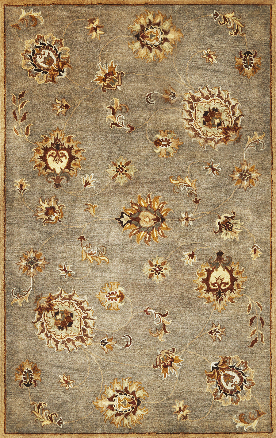 Syriana Allover Mahal 6006 Grey Rug by Kas