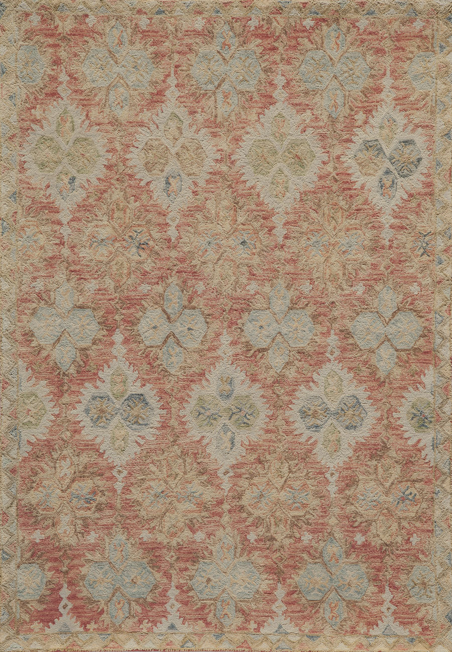 Momeni Tangier TAN17 Red Rug