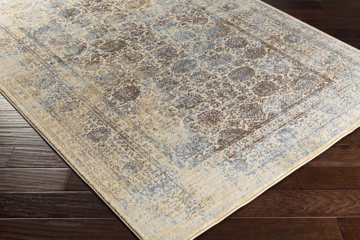 Artistic Weavers Whitman WHM-8800 Serenity Chocolate Brown Denim Blue Rug