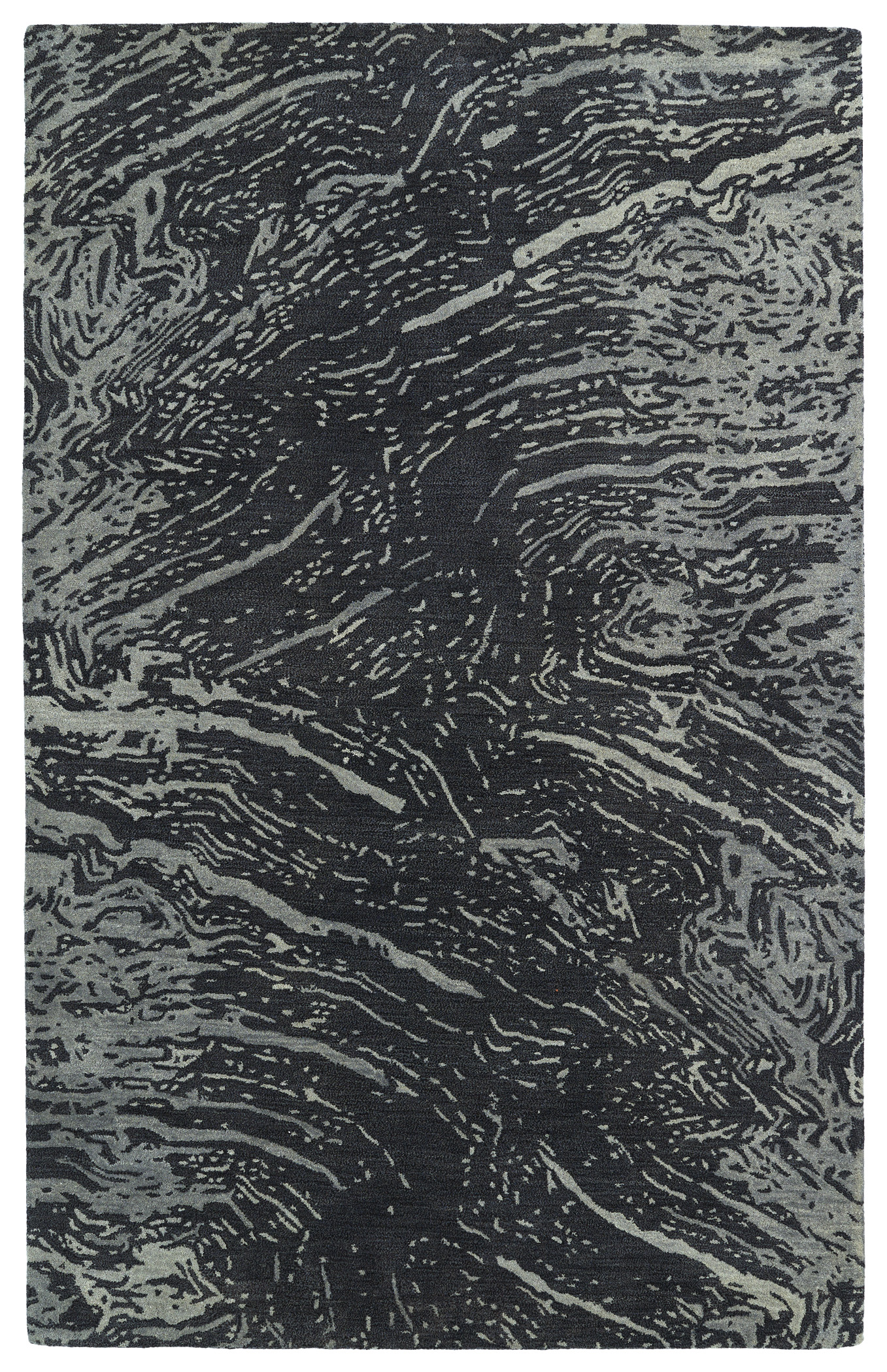 Kaleen Brushstrokes BRS01 38 Charcoal Area Rug