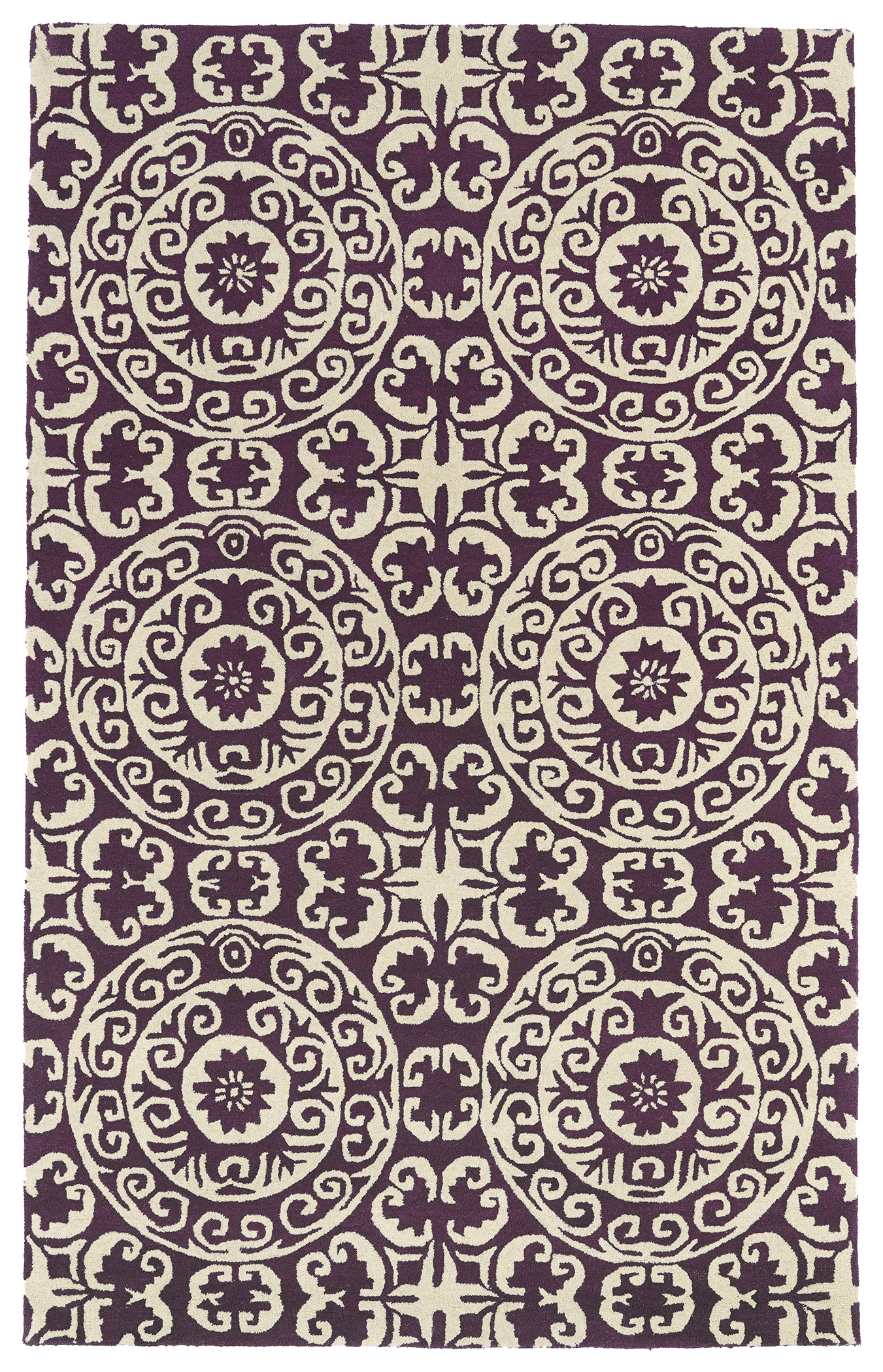 Kaleen Evolution EVL03 95 Purple Rug