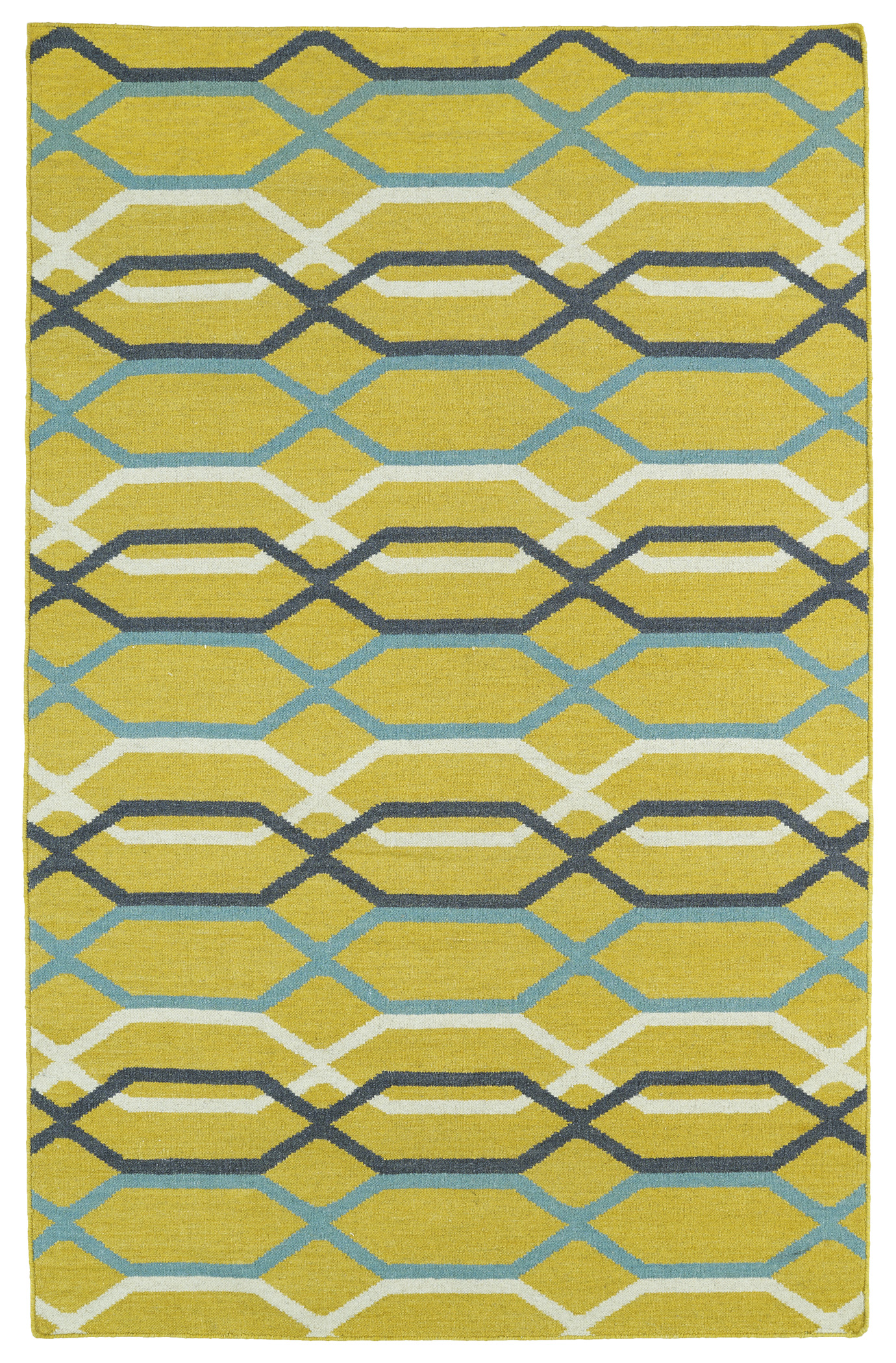 Kaleen Glam GLA01 28 Yellow Area Rug