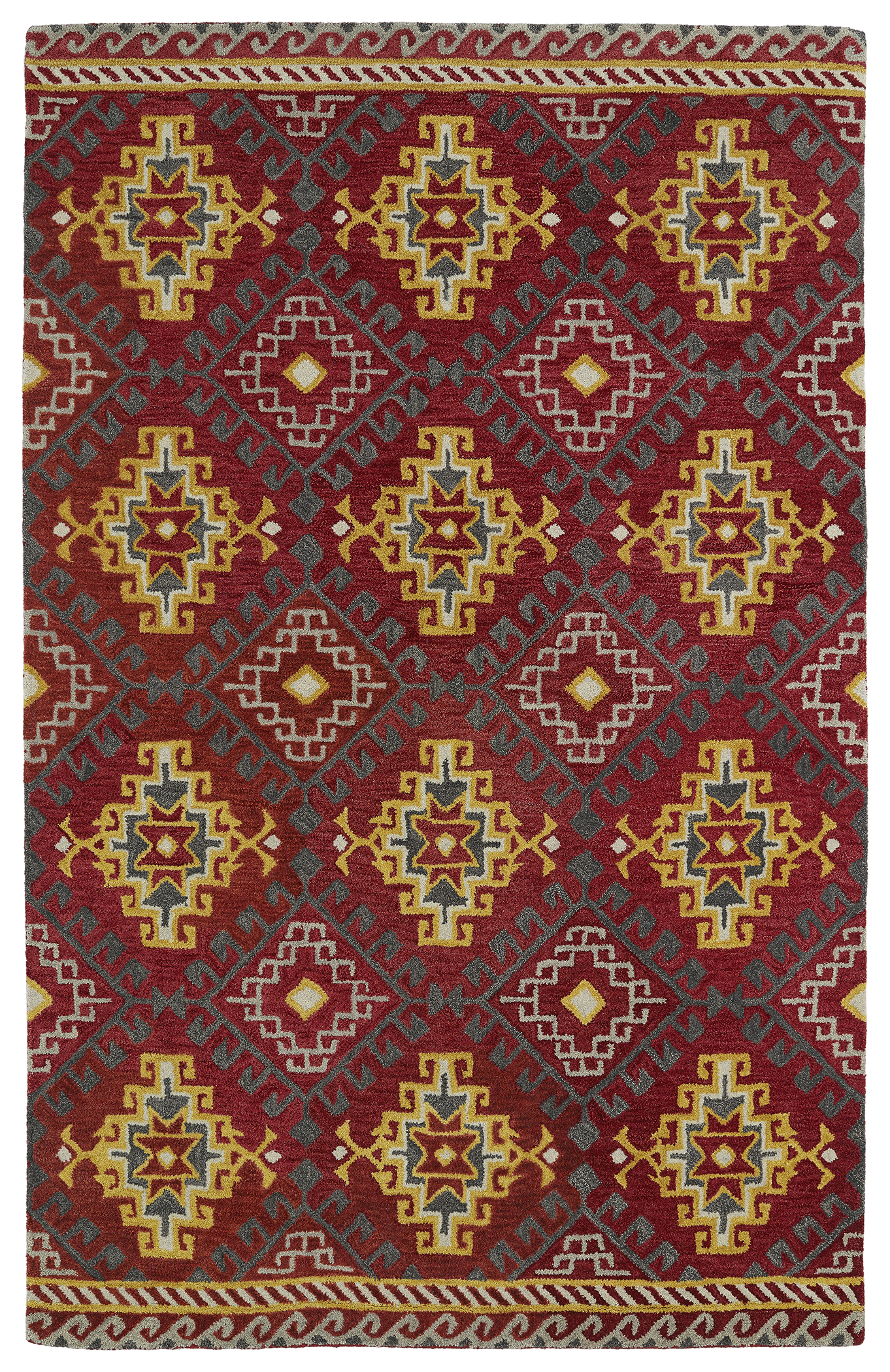 Kaleen Global Inspirations GLB07 25 Red Area Rug