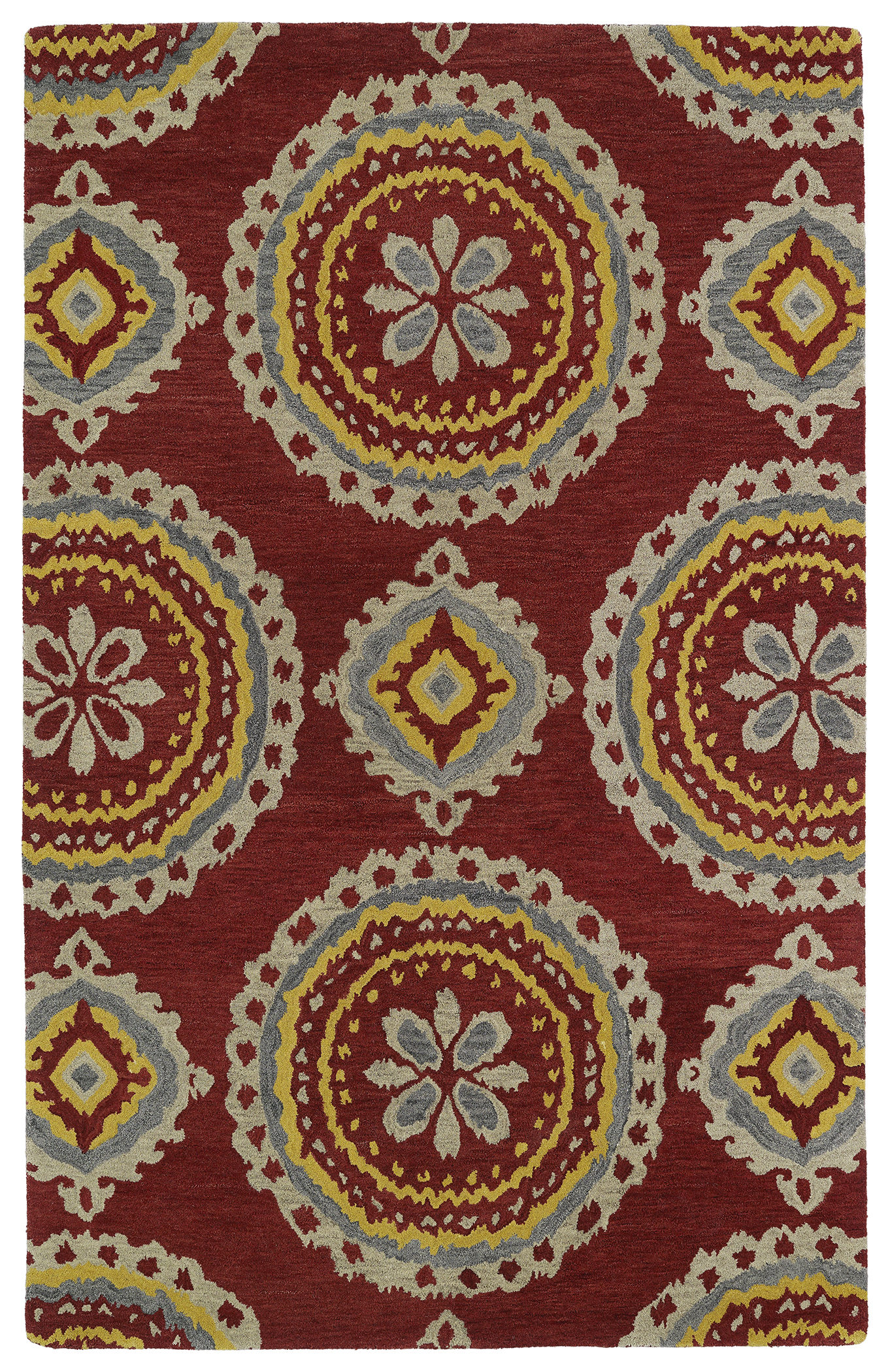 Kaleen Global Inspirations GLB09 25 Red Area Rug