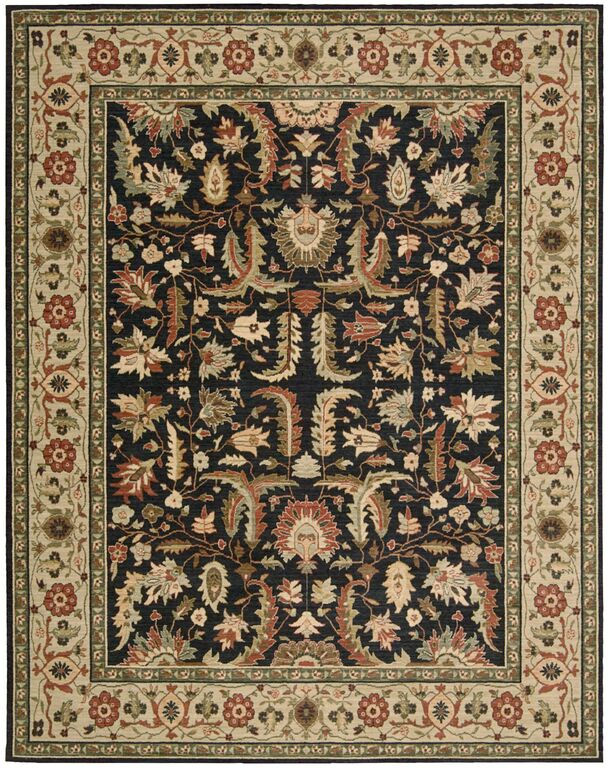 Living Treasures LI14 Midnight Rug by Nourison
