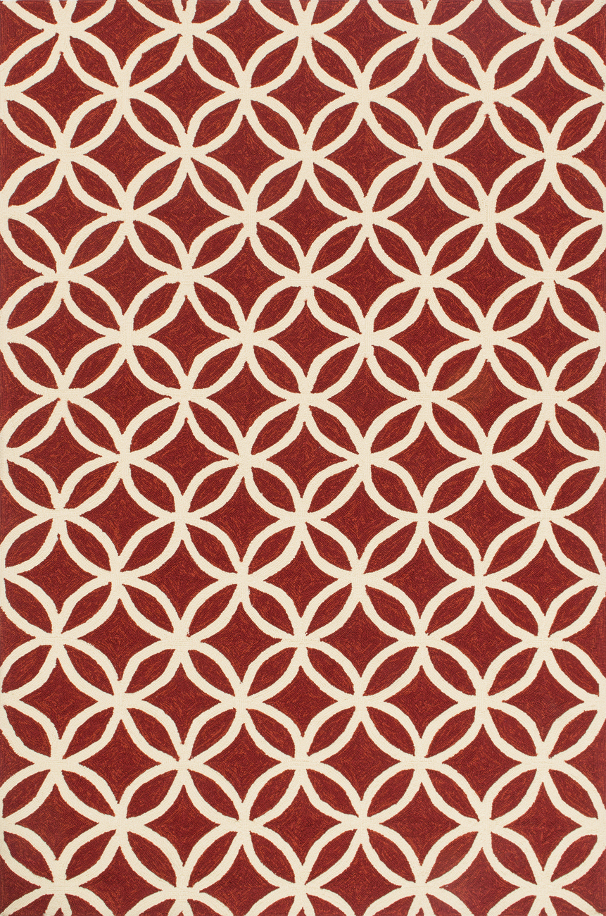 Loloi Venice Beach VB-05 Red Ivory Rug