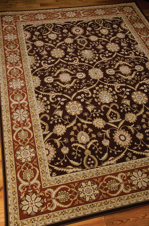 Nourison Persian Crown PC01 Dark Brown Rug