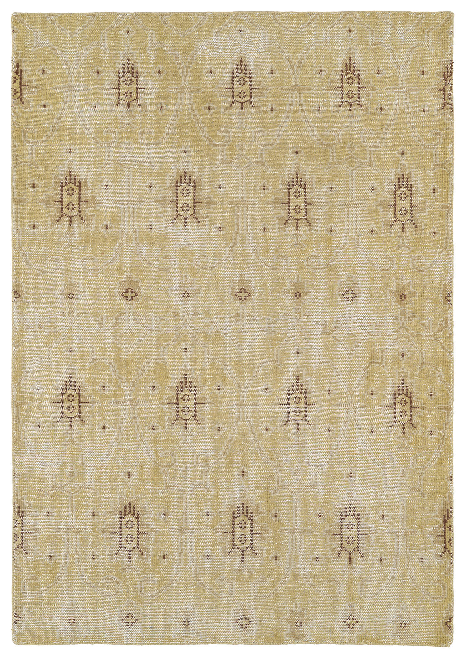 Kaleen Restoration RES01 05 Gold Rug