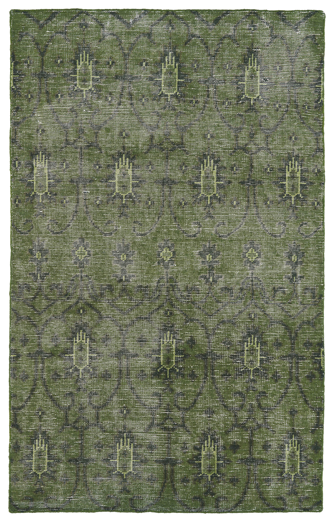 Kaleen Restoration RES01 50 Green Rug