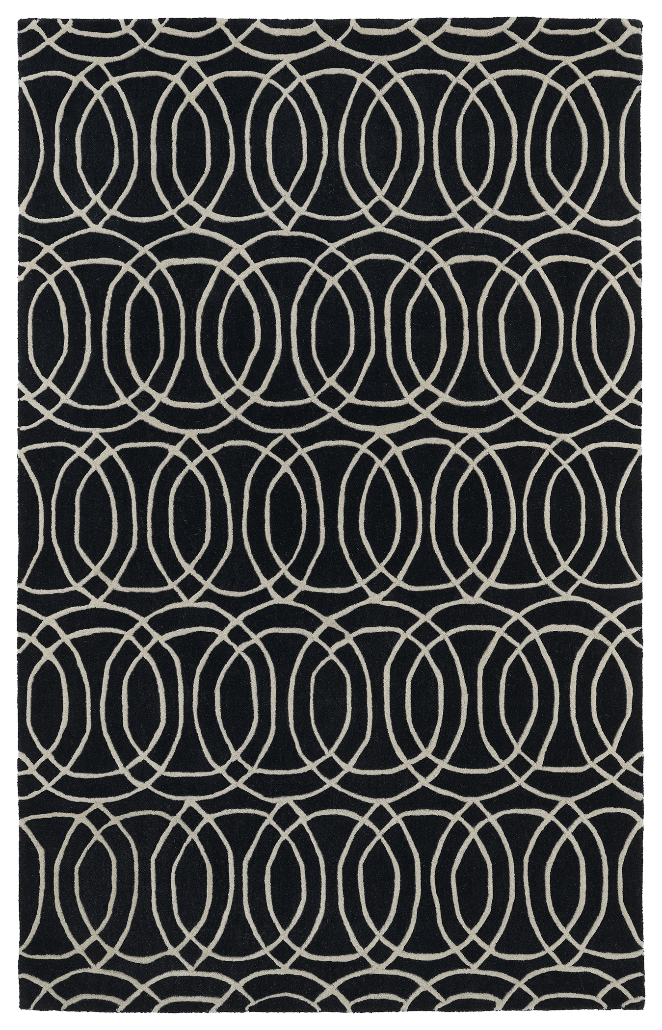 Kaleen Revolution REV02 02 Black Rug