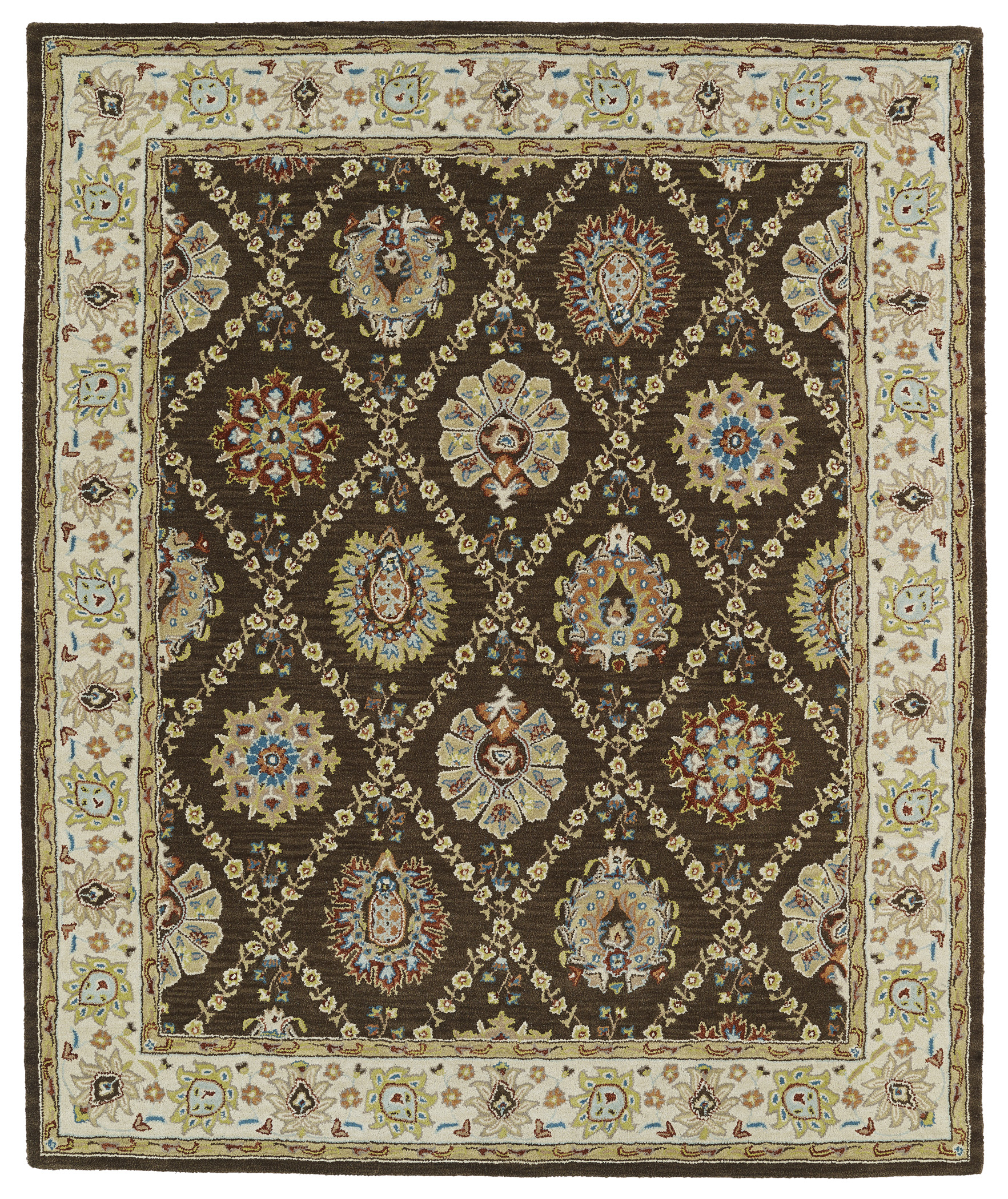 Kaleen Taj TAJ03 40 Chocolate Area Rug