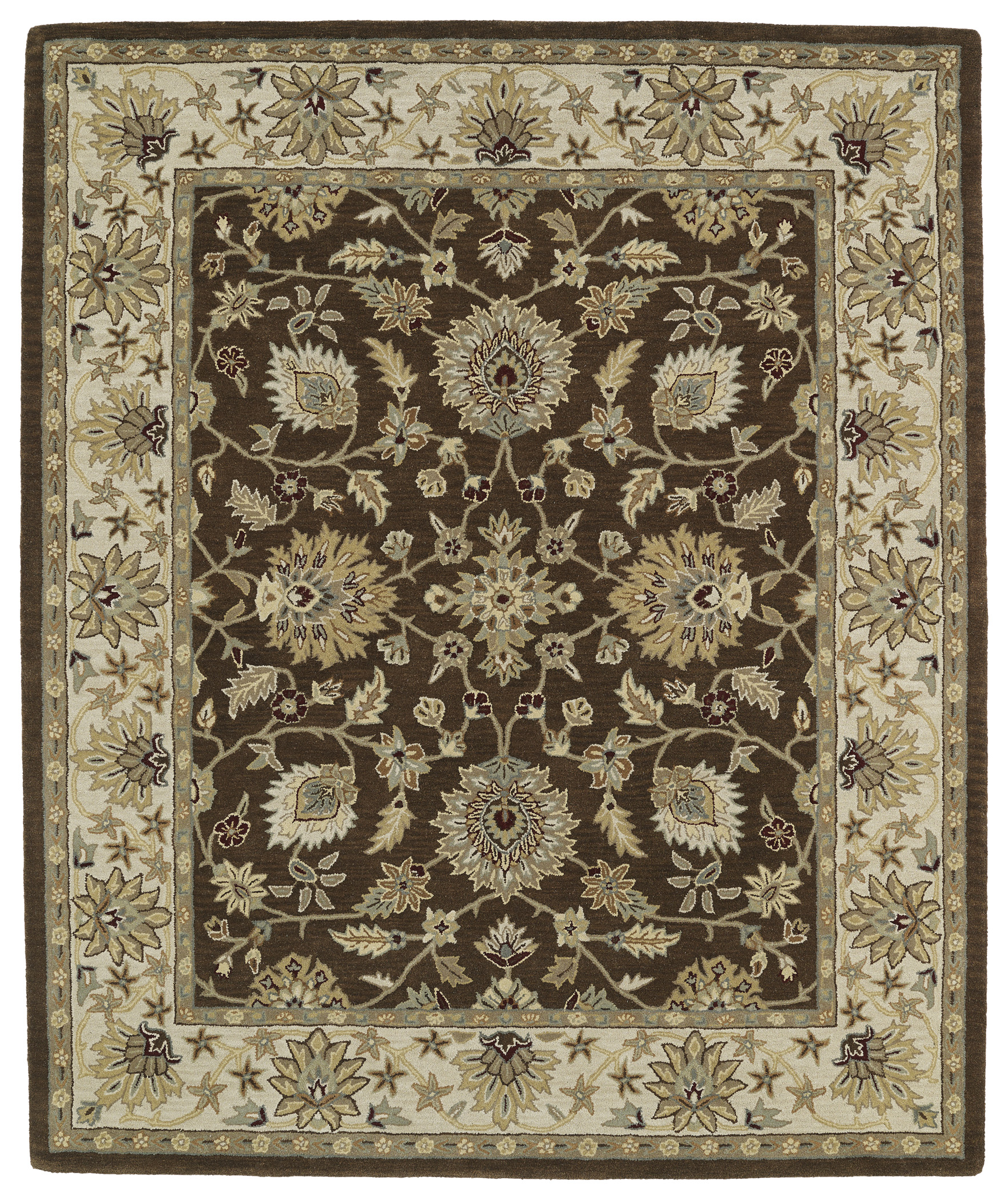 Kaleen Taj TAJ09 40 Chocolate Area Rug