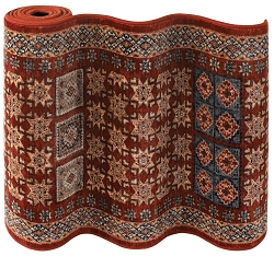 Timeless Treasures Royal Kazak 4307/0300a Burgundy Hallway and Stair Runner