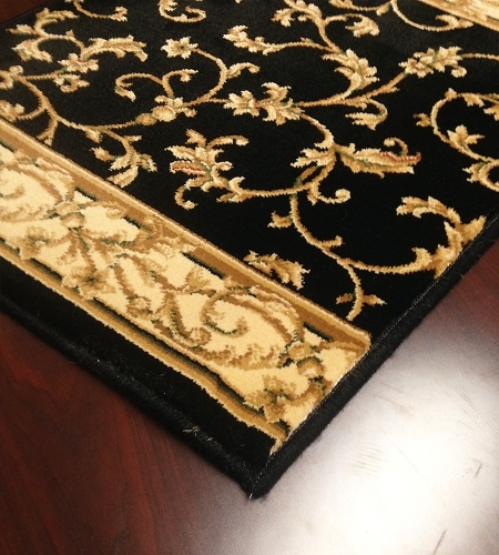 Radiance 2034KW Black Wheat Carpet Stair Runner