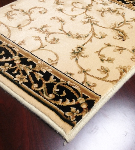 Radiance 2034BI Wheat Black Carpet Stair Runner