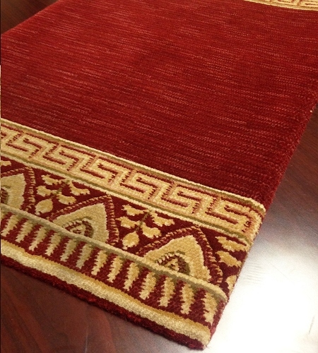 Royal Garden 920 Ruby Red Carpet Hallway and Stair Runner - 30