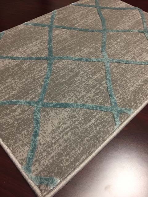 Mormont 2976 Teal Gray Hallway and Stair Runner