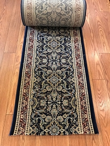 Saxon Navy - 26 Inch Wide Finished Runner - 1 Million Point Density