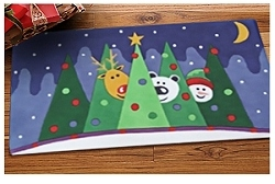 Momeni-Snowy Friends Scatter Rug - 2 x 3 Size