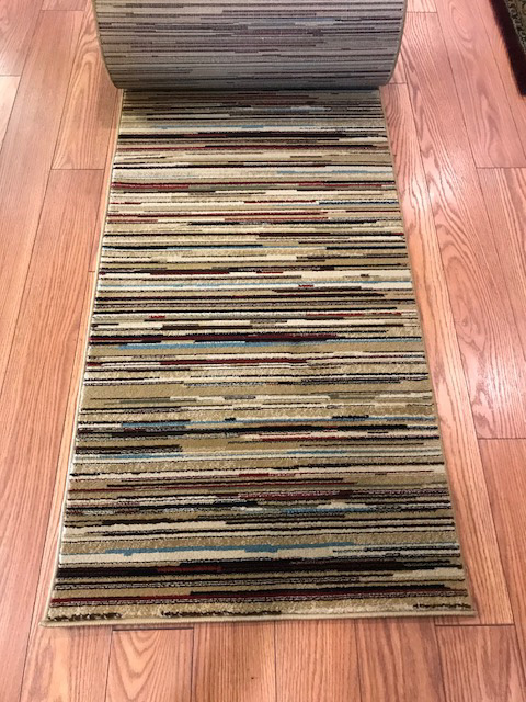 Dazzle Stripes - 26 Inch Wide Custom Runner - Price is Per Foot
