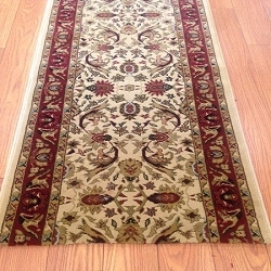 Sultan Ivory - 26 Inch Wide Finished Runner - Price is Per Foot
