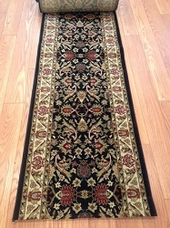 Sultan Black - 26 Inch Wide Finished Runner - Price is Per Foot