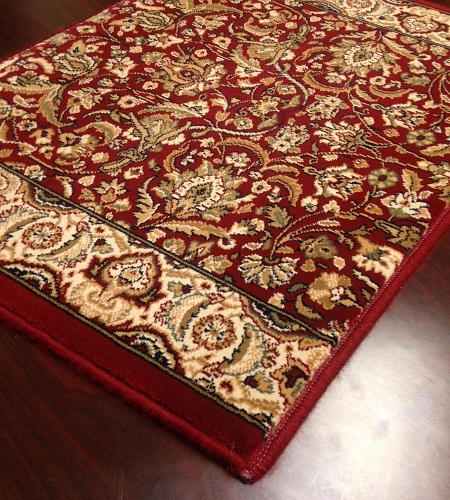 Sovereign SV02 Wine Red / Ivory Traditional Carpet Stair Runner