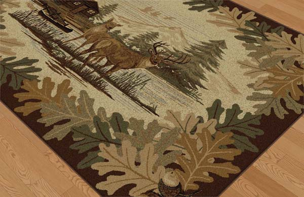 Tayse Nature NTR6670 Brown Rug