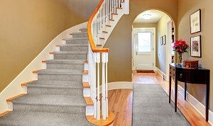 Mohrsville MR-01 Taupe Finished Stair & Hall Runner
