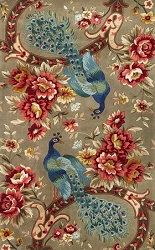 Catalina Sage Peacock Flora Rug by Kas