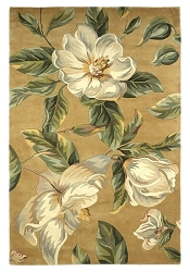 Catalina Magnolia 762 Gold Rug by Kas