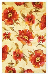 Catalina Poppies 766 Ivory Rug by Kas