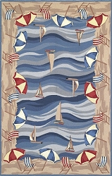 Colonial On The Beach 1809 Rug by Kas