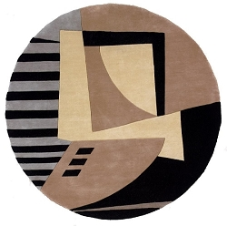 Momeni New Wave Geometric NW-22 Black Rug