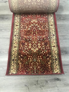 Macon Wine Red - 26 Inch Wide Finished Runner