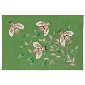 TransOcean Illusions 3289/06 Bees Green Rug
