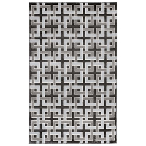 TransOcean Liora Manne Lhasa 2709/48 Deco Charcoal Rug