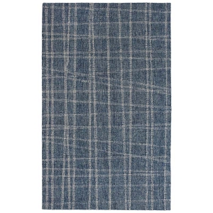 TransOcean Liora Manne Savannah 9506/03 Mad Plaid Blue Rug