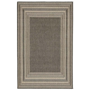 TransOcean Liora Manne Terrace 2761/67 Etched Border Grey Rug