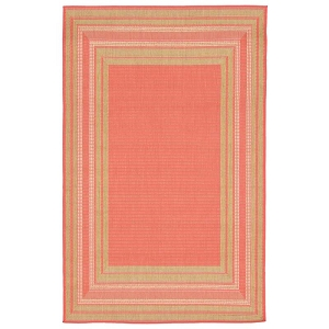 TransOcean Liora Manne Terrace 2761/74 Etched Border Sunset Rug