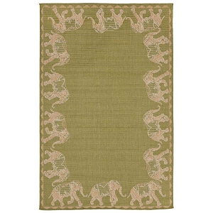TransOcean Liora Manne Terrace 2772/56 Marching Elephants Meadow Rug