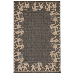 TransOcean Liora Manne Terrace 2772/82 Marching Elephants Slate Rug