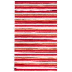 TransOcean Liora Manne Visions II 4313/24 Painted Stripes Warm Red Rug