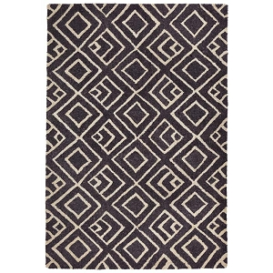 TransOcean Liora Manne Wooster 6853/48 Kuba Charcoal Rug