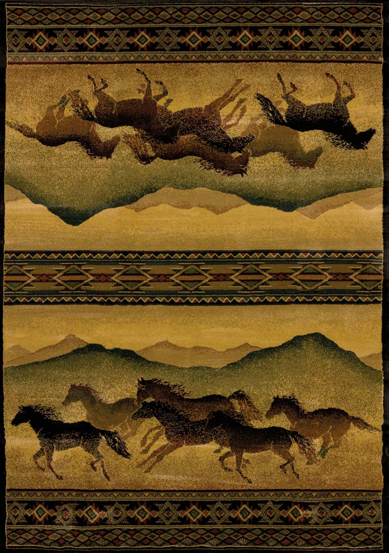 Chestnut Mare Lodge 130 52543 Genesis Rug by United Weavers